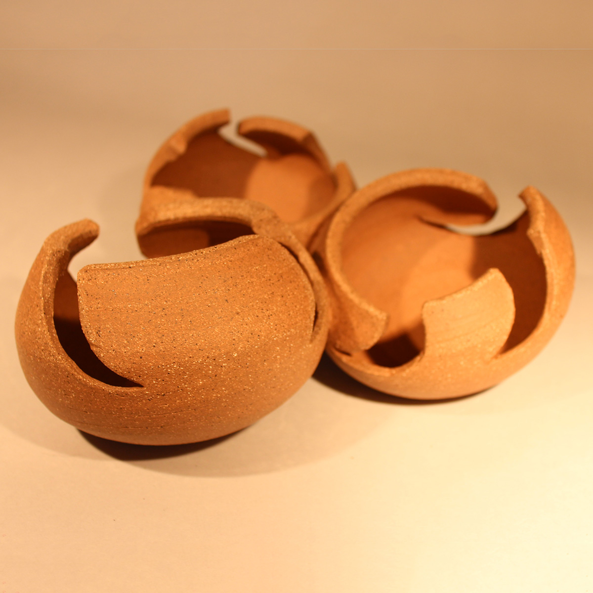 Dancing Bowls Bare Clay