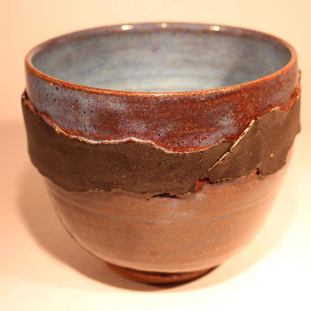 Landscape Pot with Blues